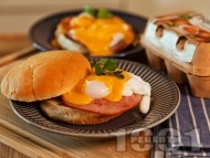Рецепта Сандвичи с шунка и яйца Бенедикт